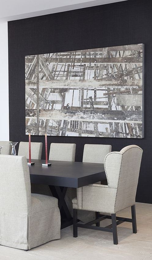 inspiring black and white dinning room decor idea