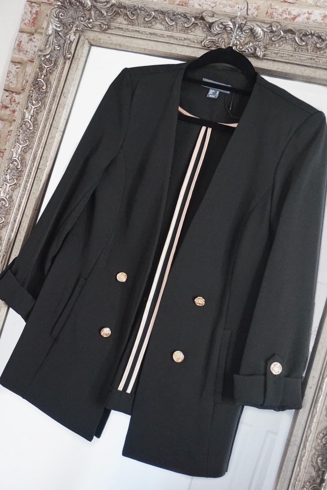 Primark gold buttoned blazer