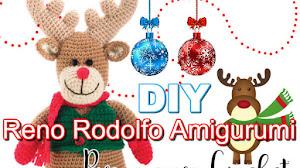 Patrón de Reno Rodolfo Amigurumi / DIY