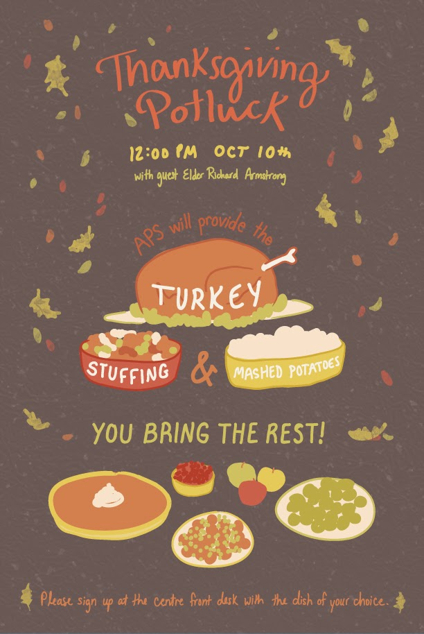 Ashleigh green thanksgiving potluck poster for Thanksgiving potluck signup sheet template