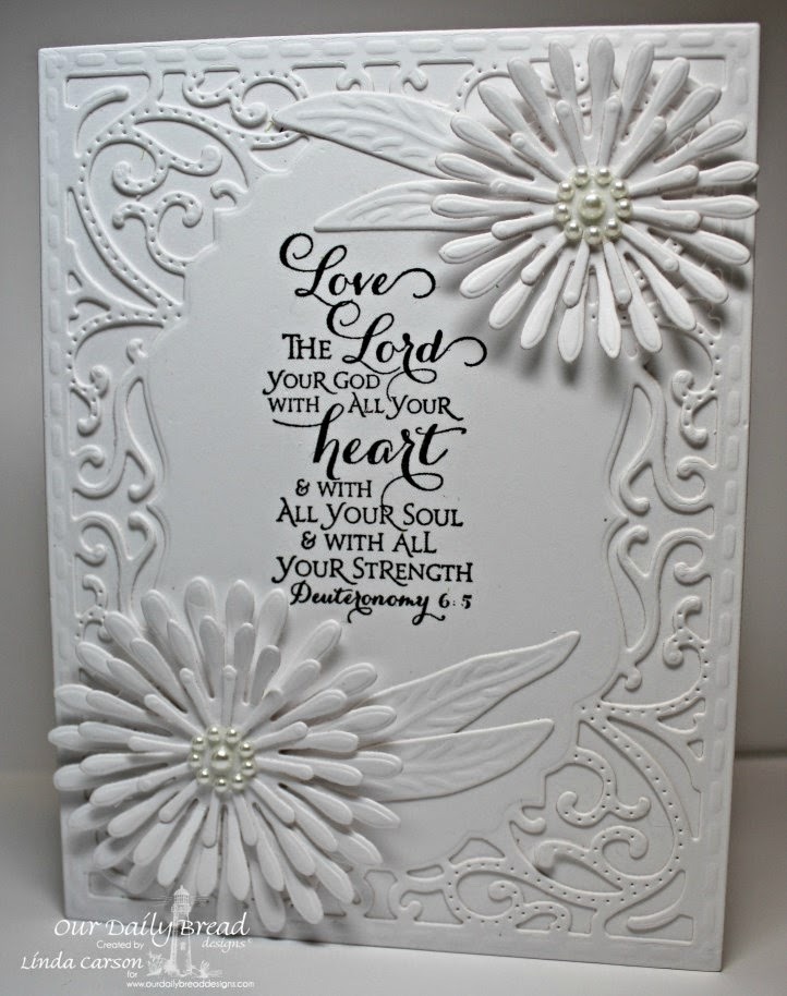 Our Daily Bread Designs, Scripture Series 3,Vintage Flourish Die, Aster and Leaves