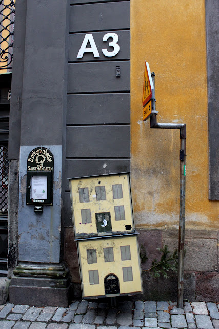 Postboxes that look like doll's houses, stockholm