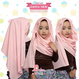 Jilbab Pasmina Instan Kanya Anak New Baby Pink