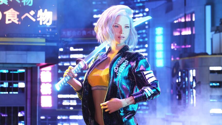 Cyberpunk 2077, Girl, 4K, #7.2454