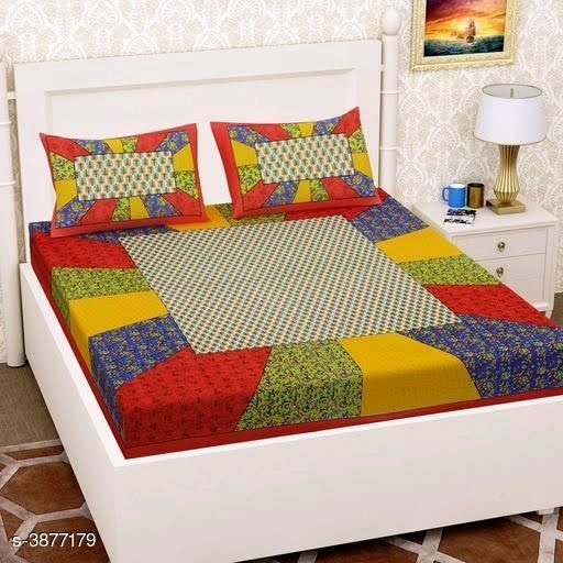 Jaipuri One Double bedsheet with 2 Pillow Cover