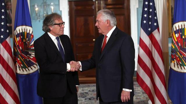 Tillerson y Almagro piden elecciones libres y justas en Venezuela
