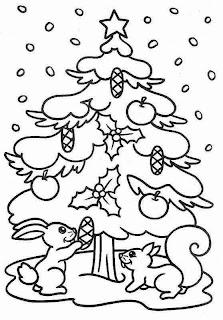 Arbol de navidad 2012 colorear