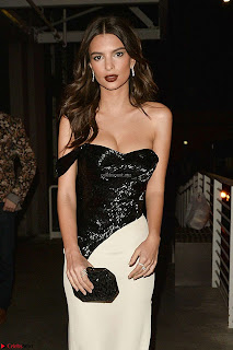 Emily Ratajkowski Night Out in West Hollywood Sexy Cleavages WOW sexy Teenager Jan 17