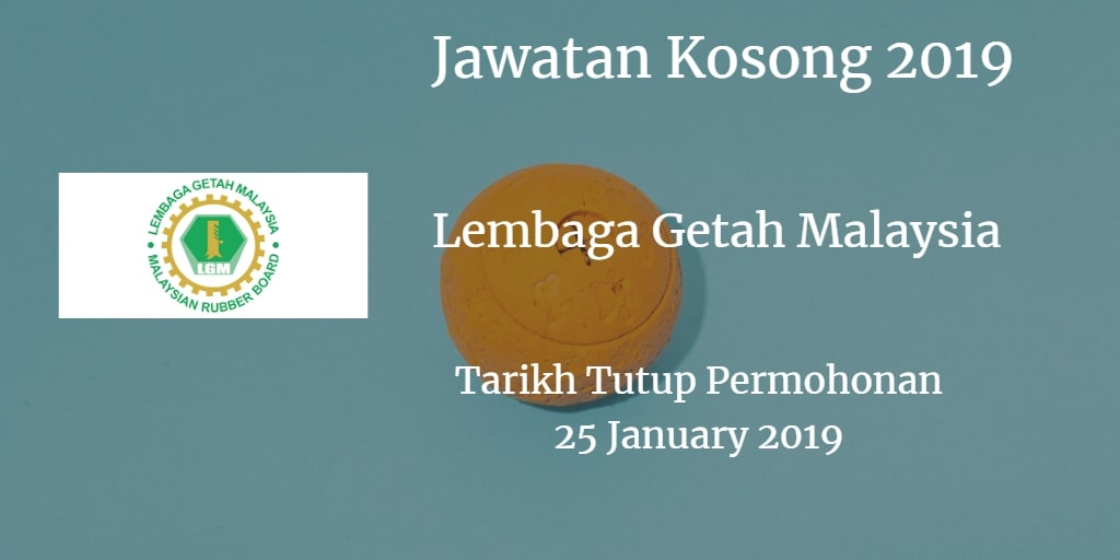 Jawatan Kosong LGM 25 January 2019