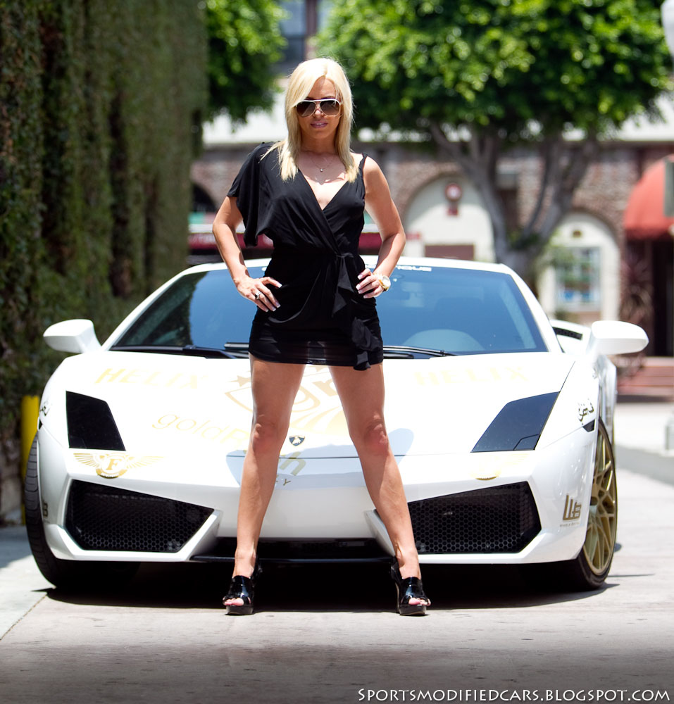 cars girls blonde flanks lamborghini lp560 tt sport cars. Black Bedroom Furniture Sets. Home Design Ideas