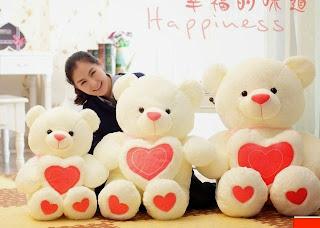 Boneka beruang love 15