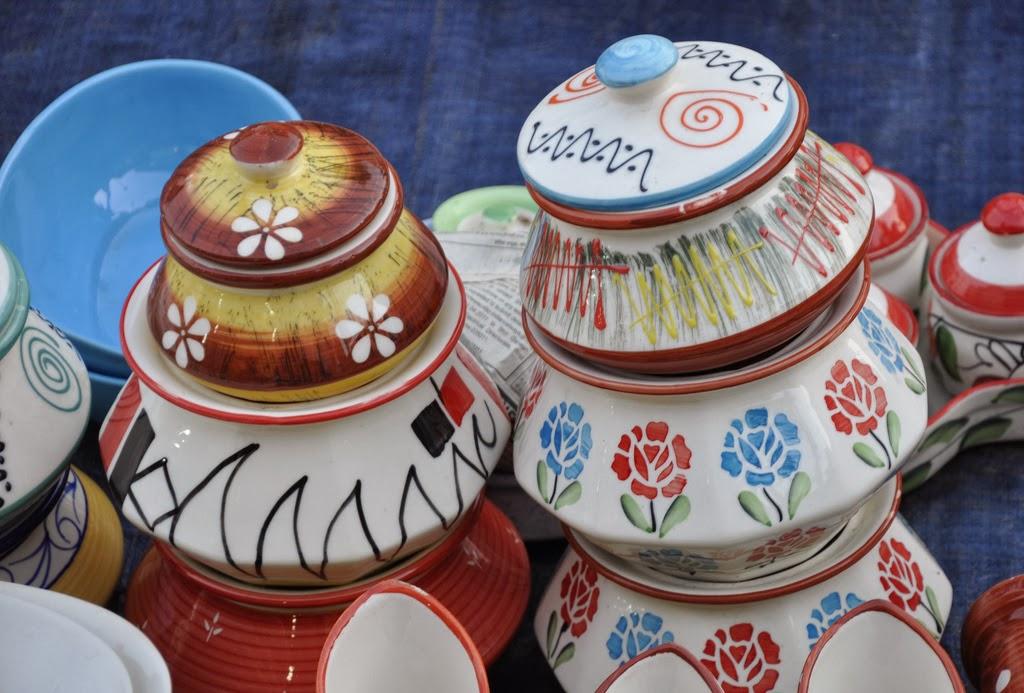 Indian khurja pottery