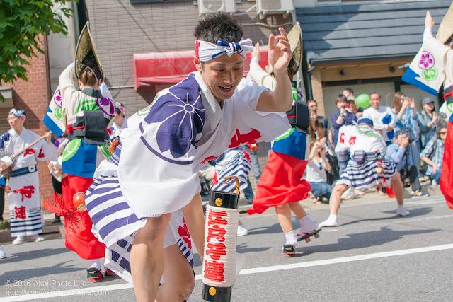 江戸っ子連、男踊り、マロニエ祭り流し踊り中の演舞の写真 その6
