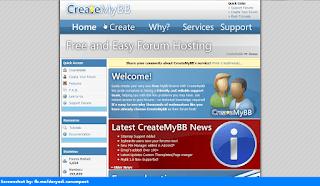 CreateMyBB homepage