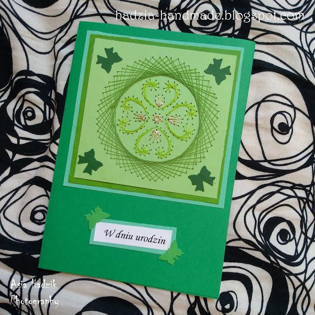 692. Zielona kartka urodzinowa – haft matematyczny