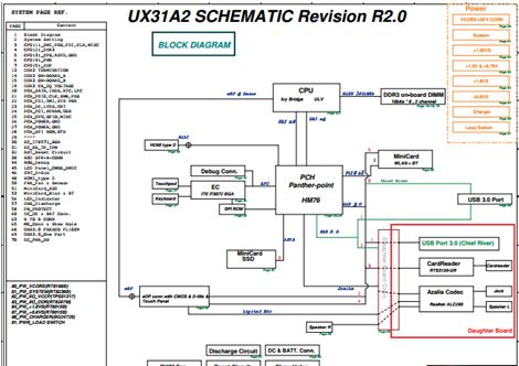 asus ux31a2 free download laptop motherboard schematics