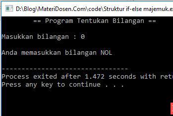 Pernyataan IF-ELSE Majemuk C++, Lengkap Contoh Program