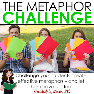 Lessons and activities for middle and high school English class: teach your students how to create effective metaphors with this fun challenge.