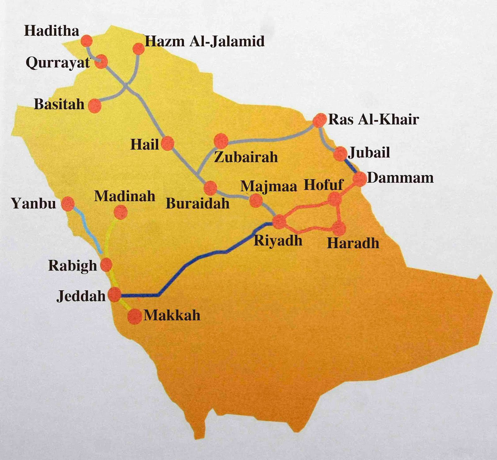 Travel Time From Jeddah To Madinah
