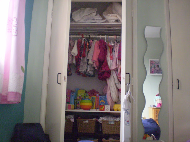 Inside the built in wardrobe