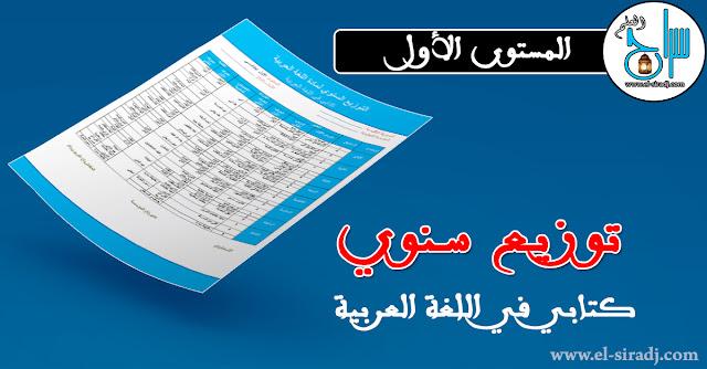 التوزيع السنوي كتابي اللغة العربية