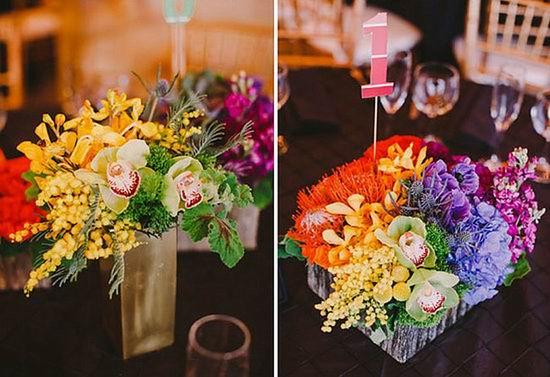 Rainbow Wedding Flowers Rainbow Flowers Flower Cakes And
