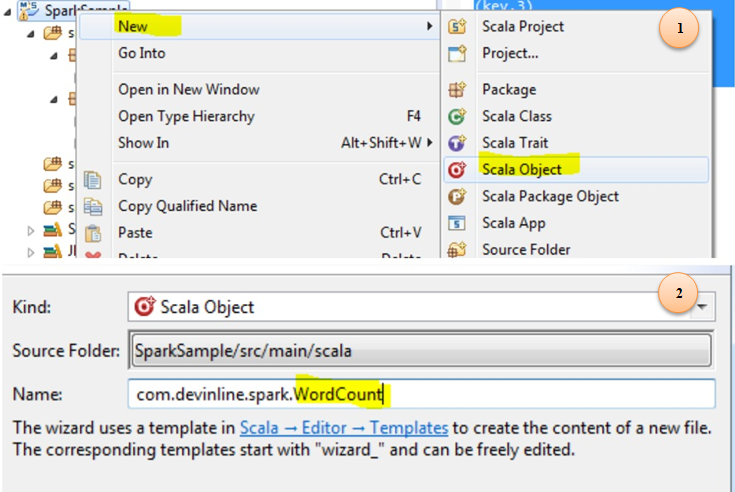 Setup Apache Spark in eclipse(Scala IDE) : Word count