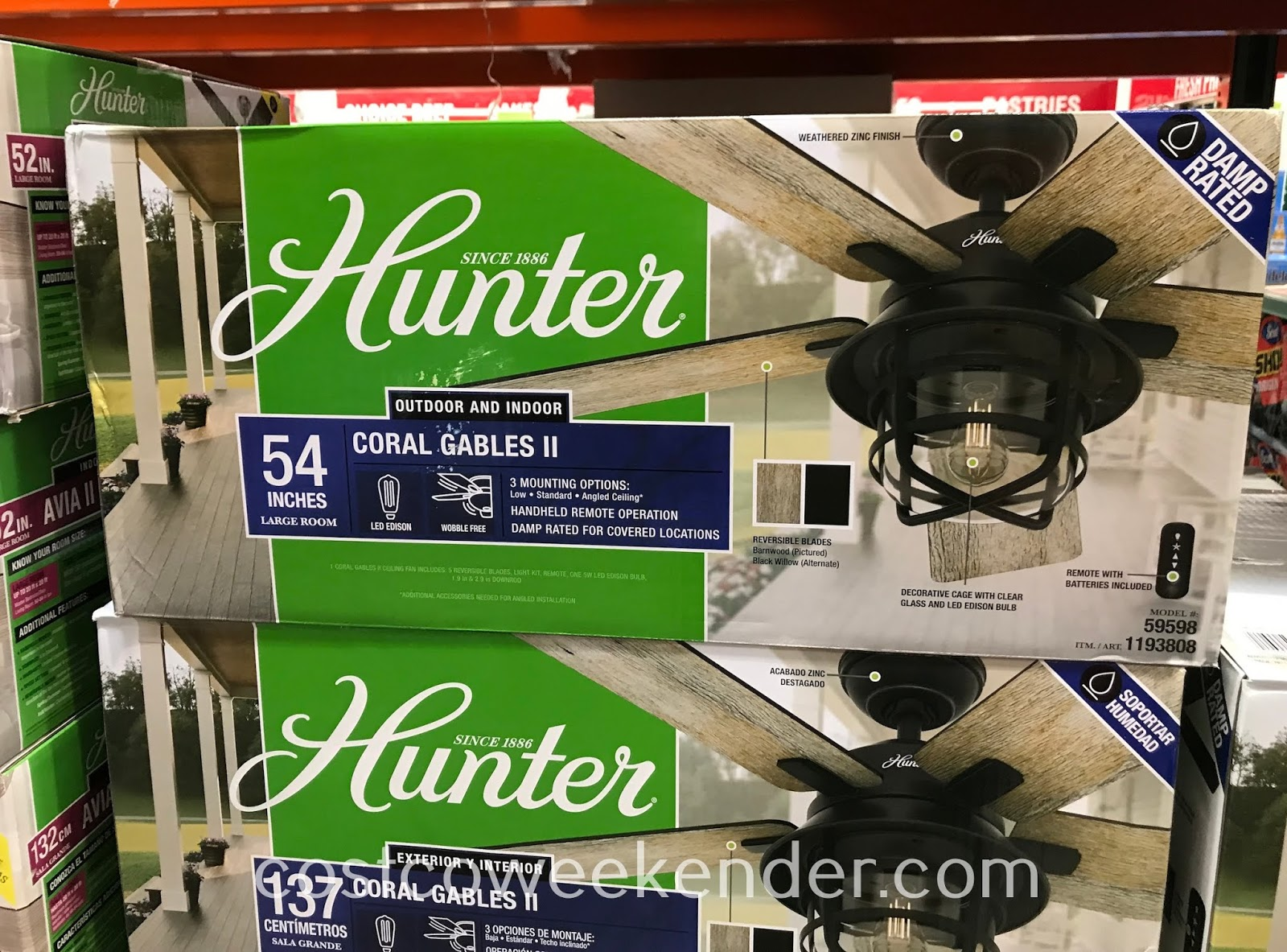 Stay cool this summer with the Hunter Coral Gables II Ceiling Fan