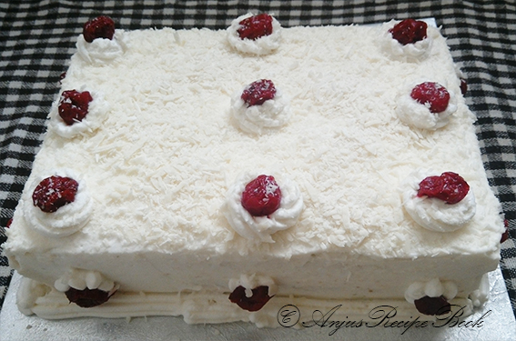 White Forest Cake Recipe In Pressure Cooker: Anju's Recipe Book