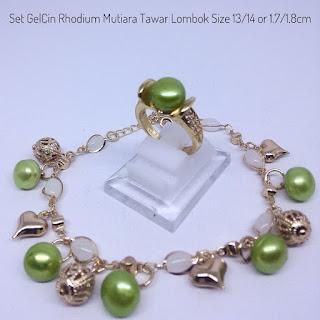 Grosir Set Perhiasan Mutiara Lombok