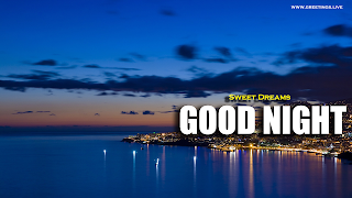 Good Night at Sea Night View Wishes Images
