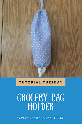 Homemade Plastic Grocery Sack Storage Holder Sewing Project