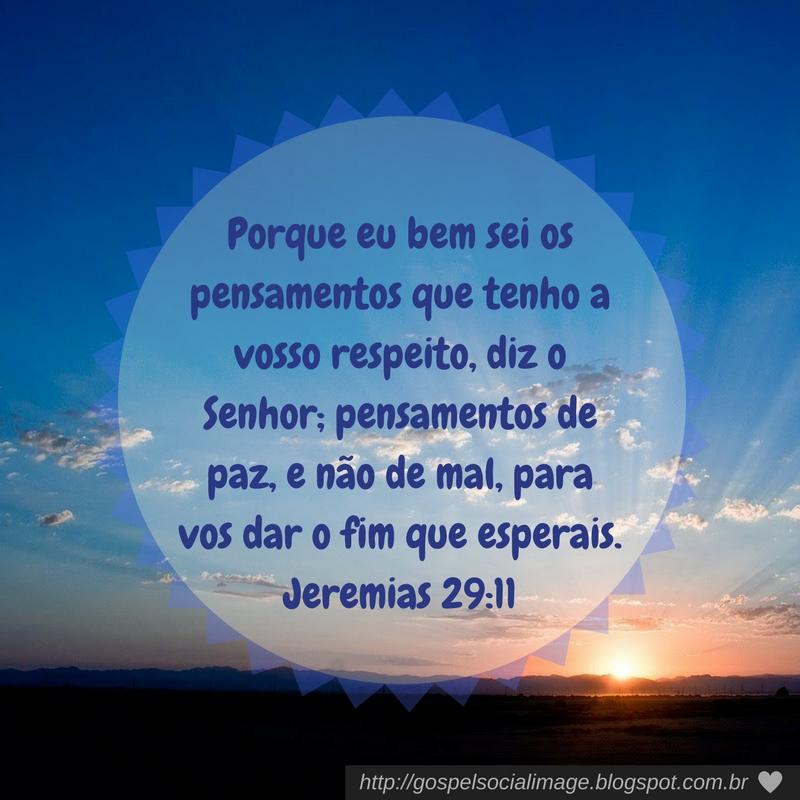 Imagem bíblica com versículo Jeremias 29.11