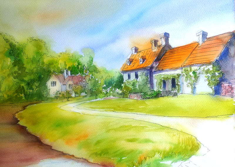 Line Art Watercolor : Arti s art life as i see it line and wash
