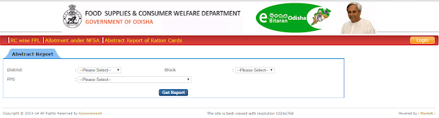 Ration Card Status Odisha