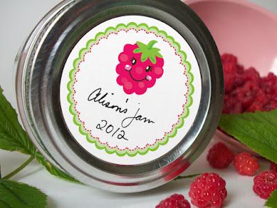 raspberry canning label