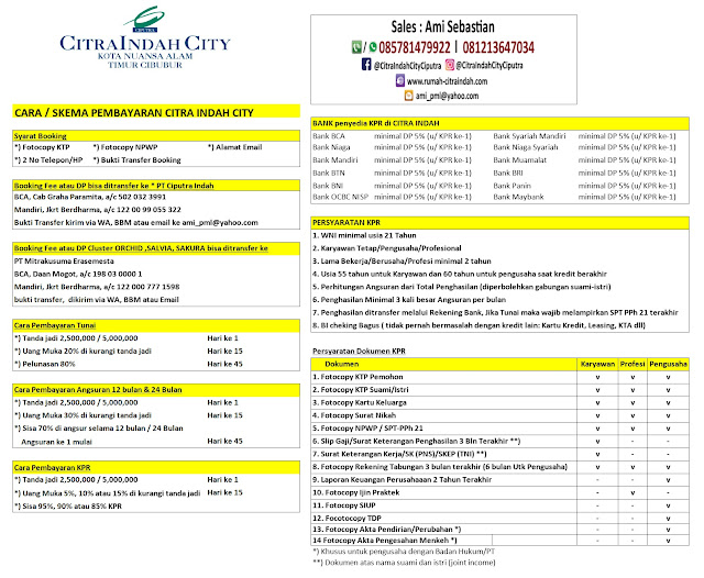 Syarat KPR dan Skema Bayar Citra Indah City