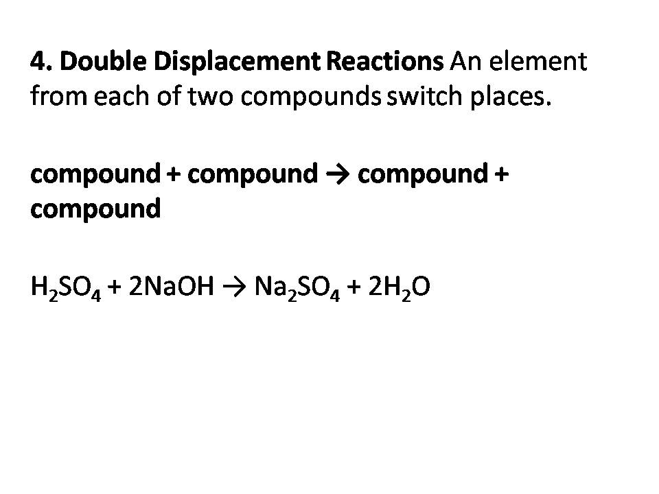 double displacement reactions essay Double displacement reactions lab conclusion essay, i can't be bothered to do my coursework, aberdeen university creative writing society 27.