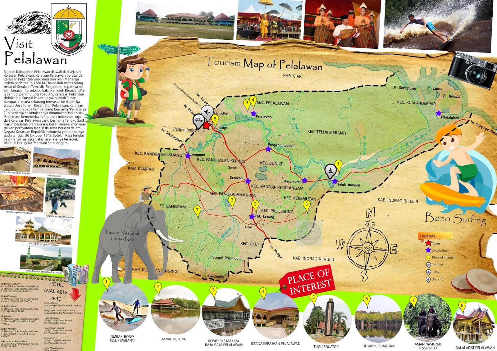 Peta Wisata Kabupaten Pelalawan - Tourism Map of Pelalawan ...