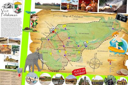 Peta Wisata Kabupaten Pelalawan - Tourism Map of Pelalawan - Riau - Indonesia