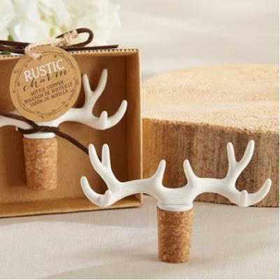 decoration mariage forêt cadeau invités bouchon stopper bois de cerf