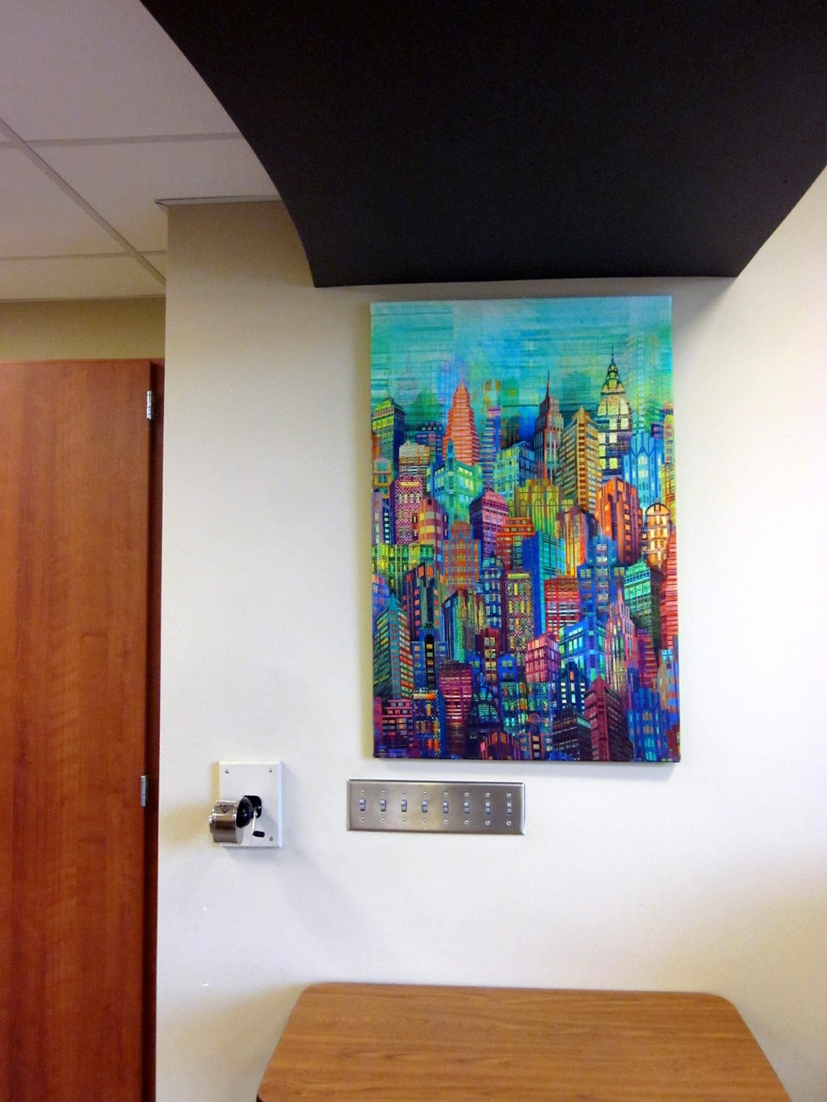 Jean S Quilting Page Skylines Cityscape Panel Hung