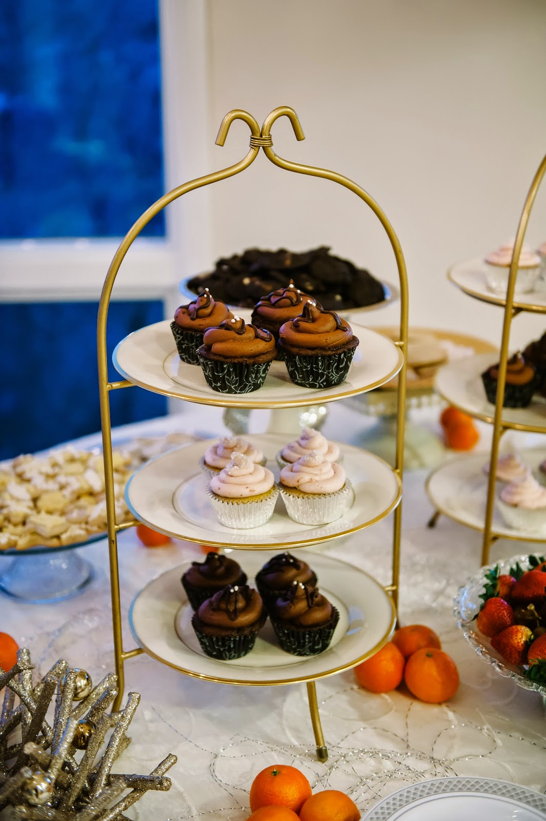 Gluten-Free Dessert Wedding Reception Cupcake Tiers