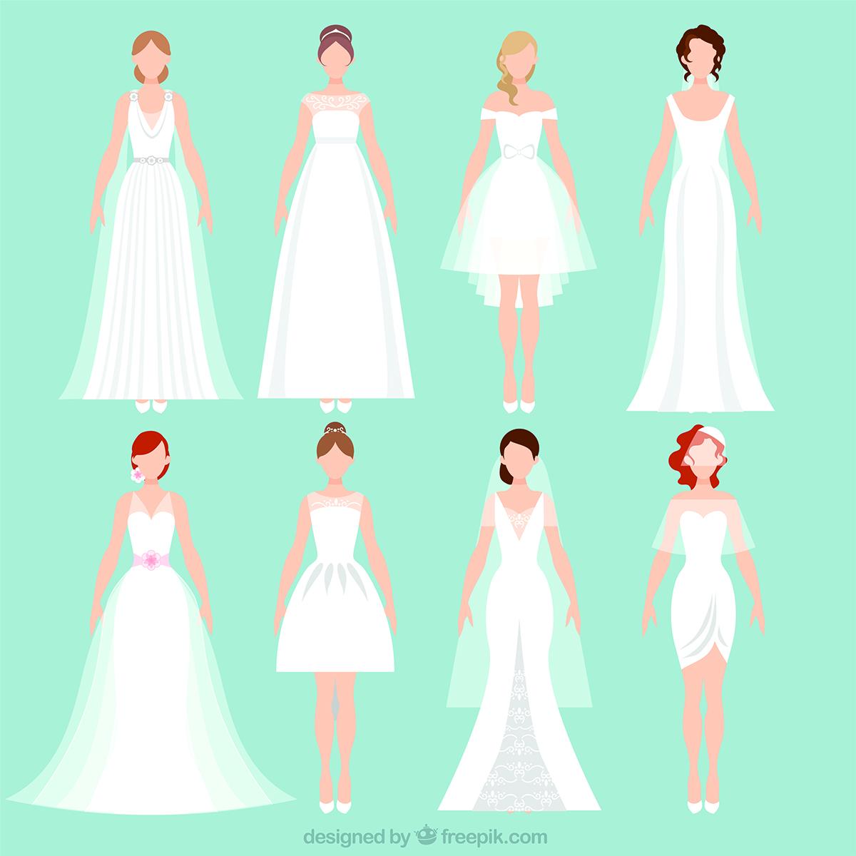 Brautkleid Formen: Hochzeitskleid X Figur
