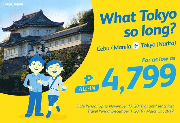 Cebu Pacific Promo Manila to Tokyo