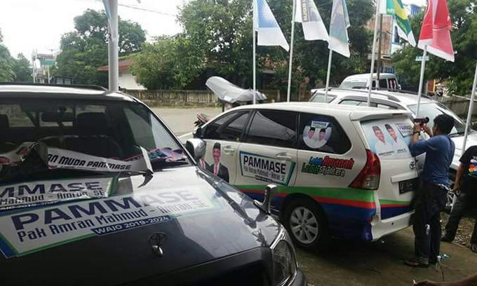 Tunjukkan Dukungan ke PAMMASE, Warga Ramai-ramai Branding Kendaraannya