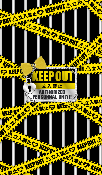 KEEP OUT Theme for girls yellow