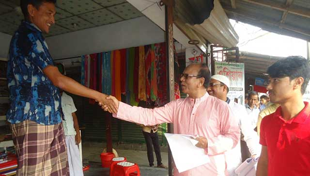 distributed leaflets demanding release of BNP Chairperson Khaleda Zia
