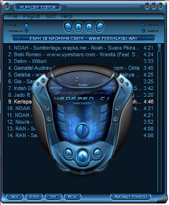 tampilan winamp terbaru with serial number plus skin
