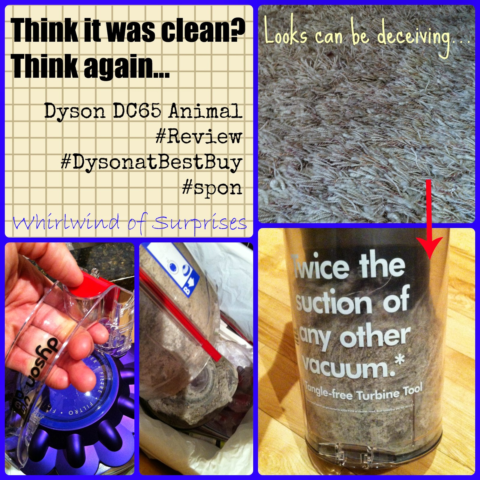 Cleaning power of the Dyson DC65 Animal amazes, #DysonatBestBuy #review
